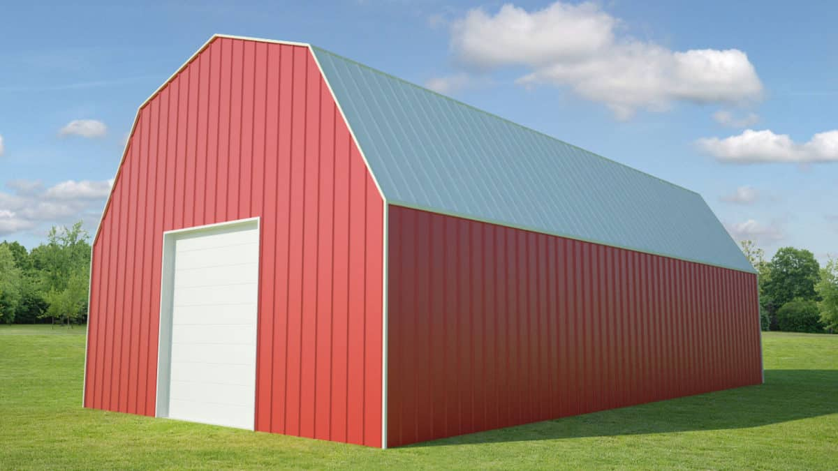 30 X 60 Gambrel Roof Mbmi Metal Buildings